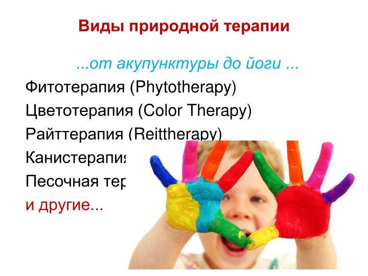 Виды природной терапии