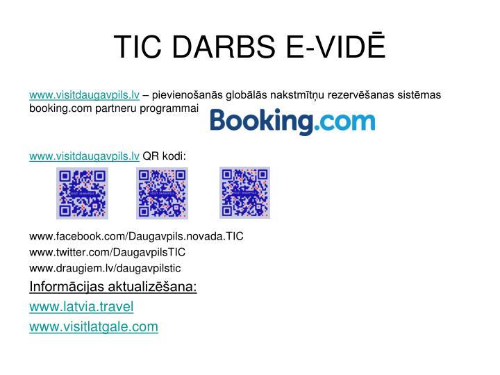 TIC DARBS E-VIDĒ
