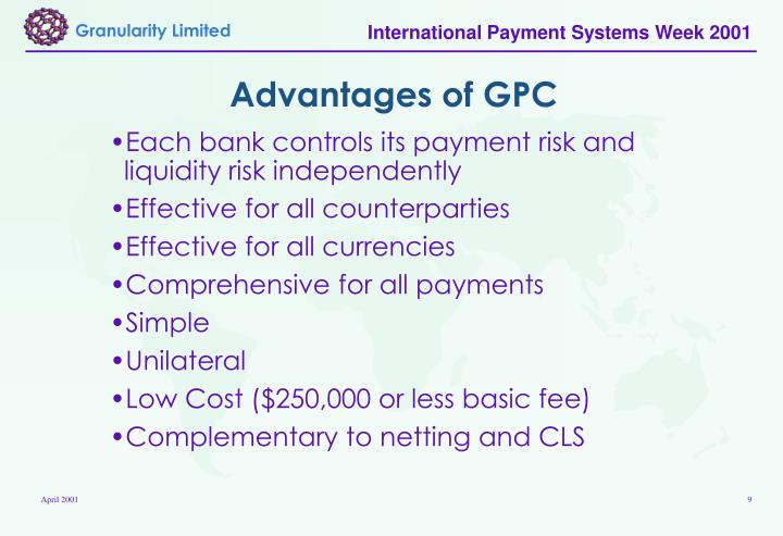 Advantages of GPC