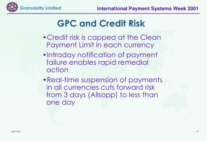 GPC and Credit Risk