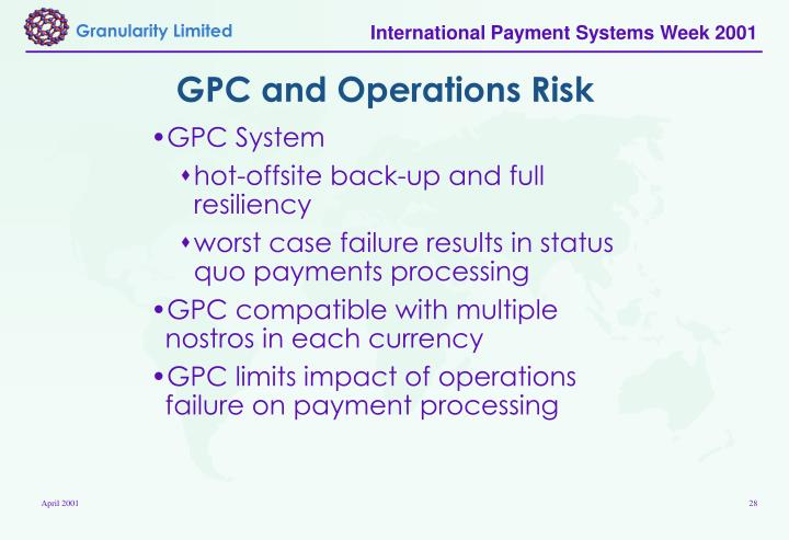 GPC and Operations Risk