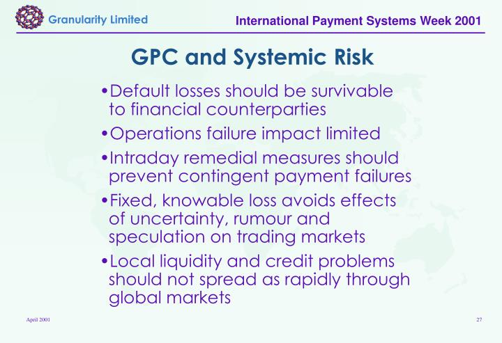 GPC and Systemic Risk