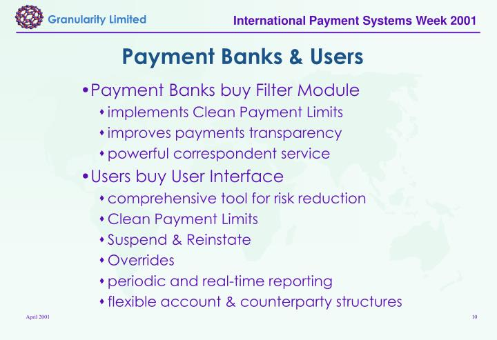 Payment Banks & Users