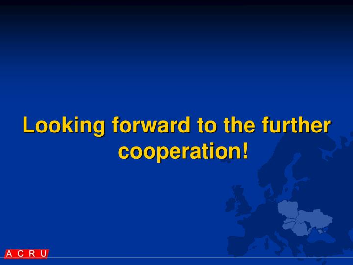 Looking forward to the further cooperation!