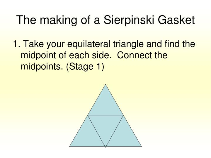 The making of a Sierpinski Gasket