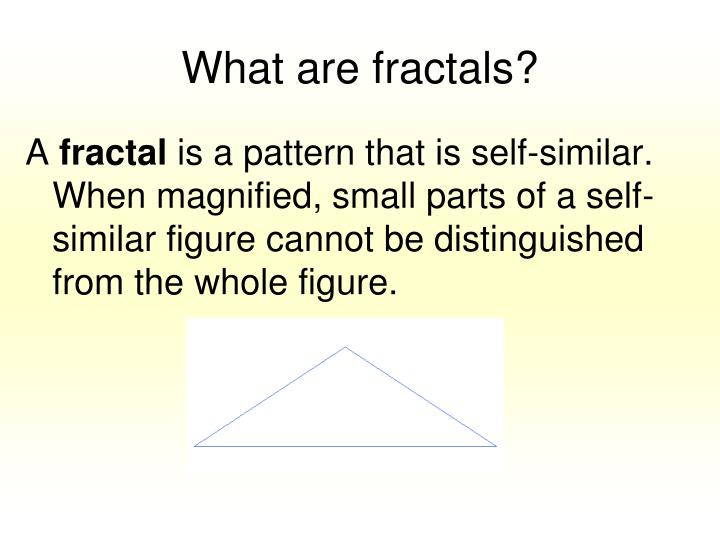 What are fractals