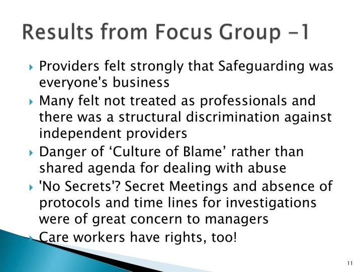 Providers felt strongly that Safeguarding was everyone's business