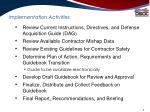 implementation activities