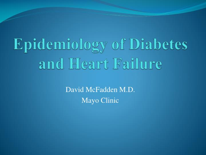 Epidemiology of diabetes and heart failure