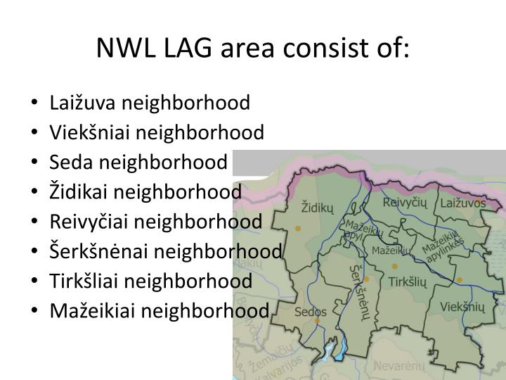 Nwl lag area consist of