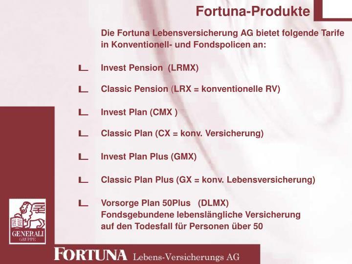 Fortuna-Produkte