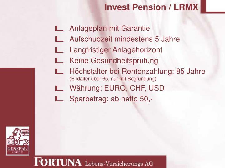 Invest Pension / LRMX