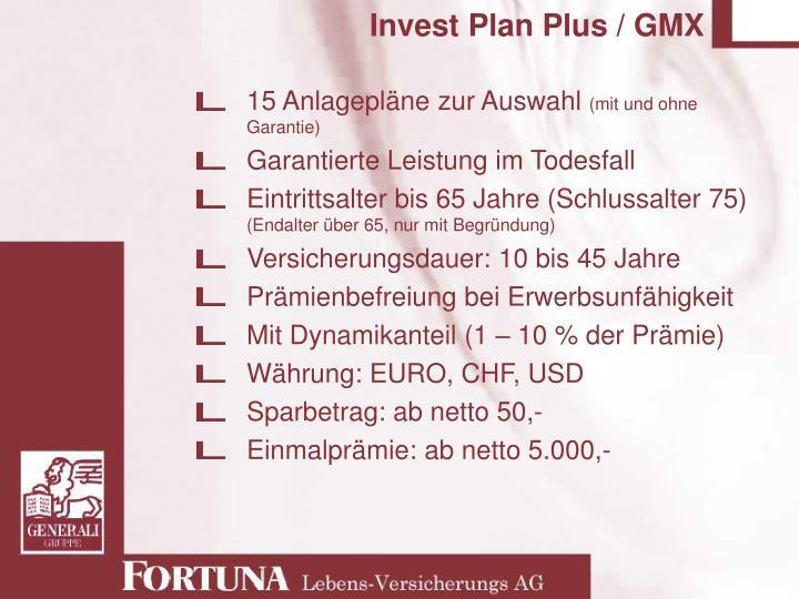 Invest Plan Plus / GMX
