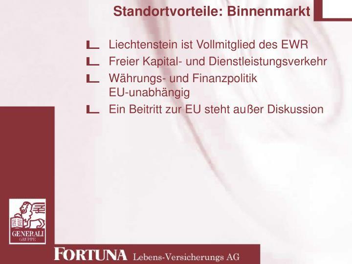 Standortvorteile: Binnenmarkt
