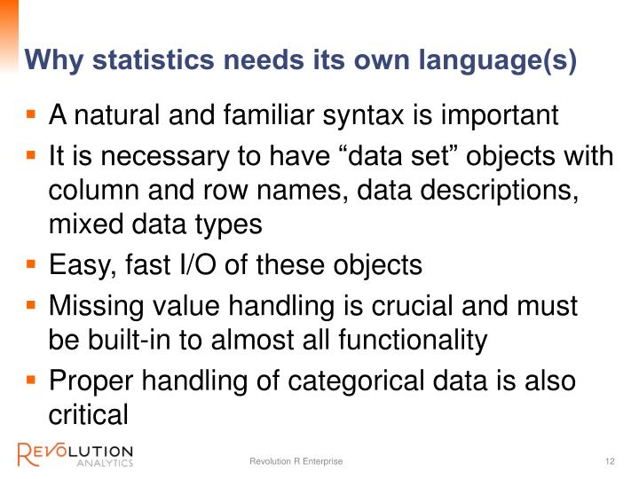 Why statistics needs its own language(s)