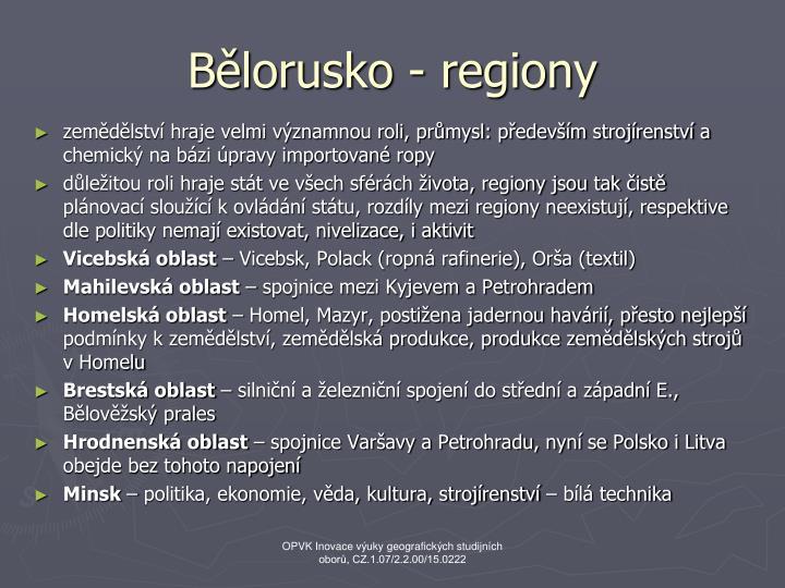 Bělorusko - regiony