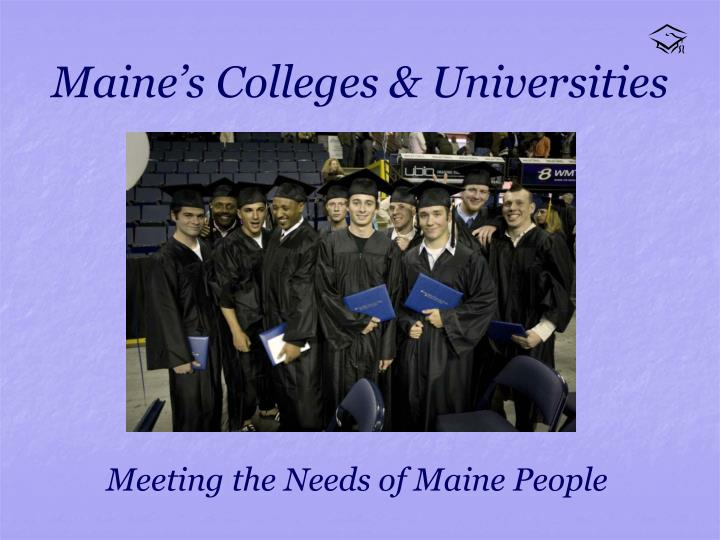 Maine s colleges universities