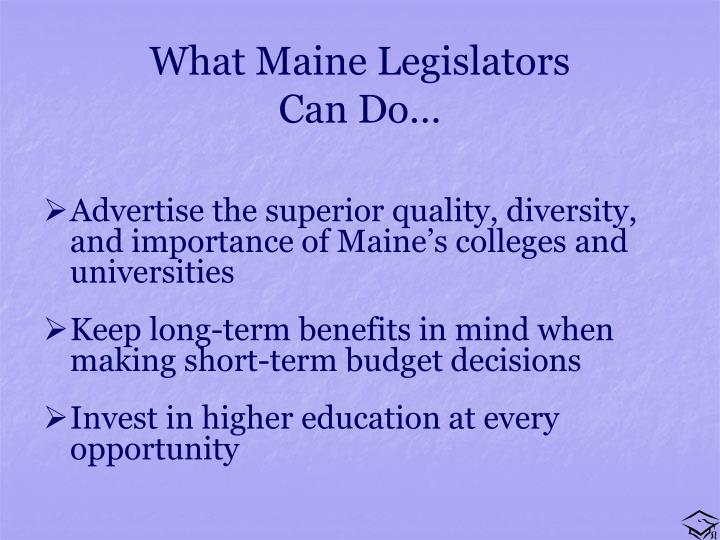 What Maine Legislators