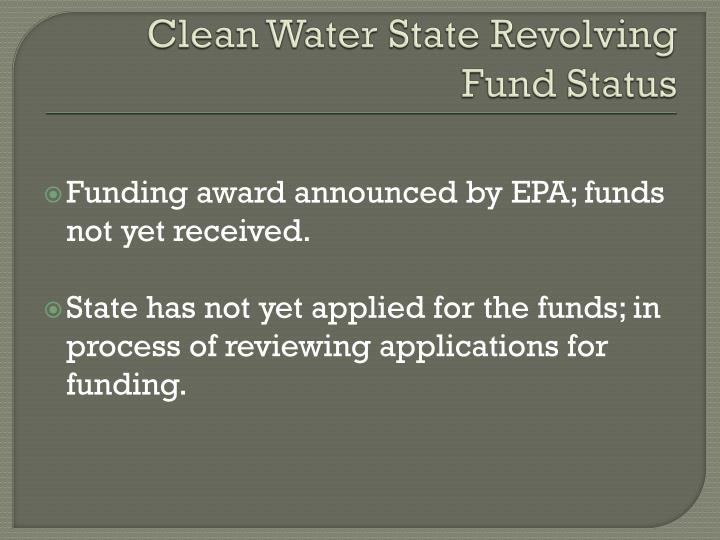 Clean Water State Revolving