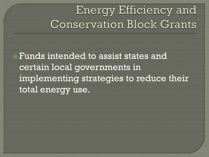 Energy Efficiency and