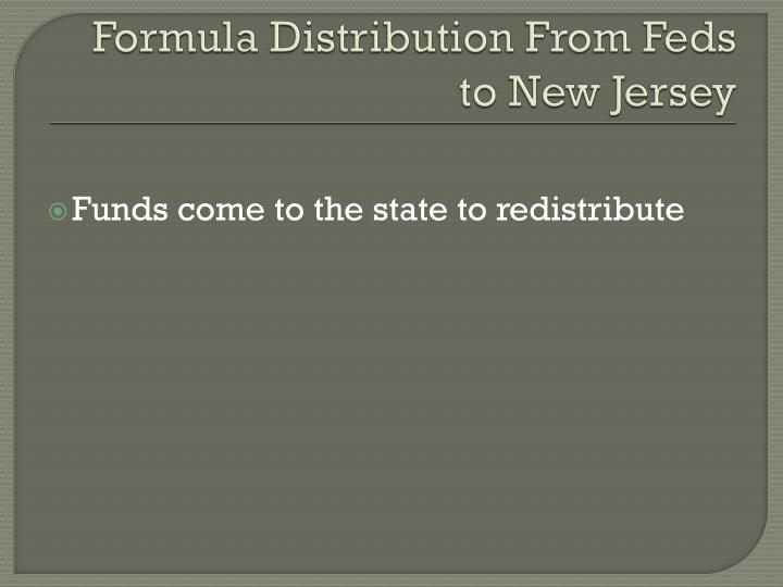 Formula Distribution From Feds