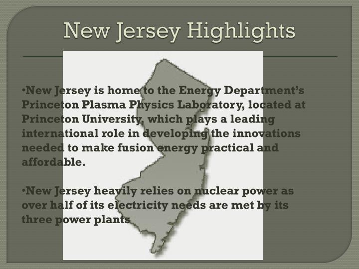 New Jersey Highlights