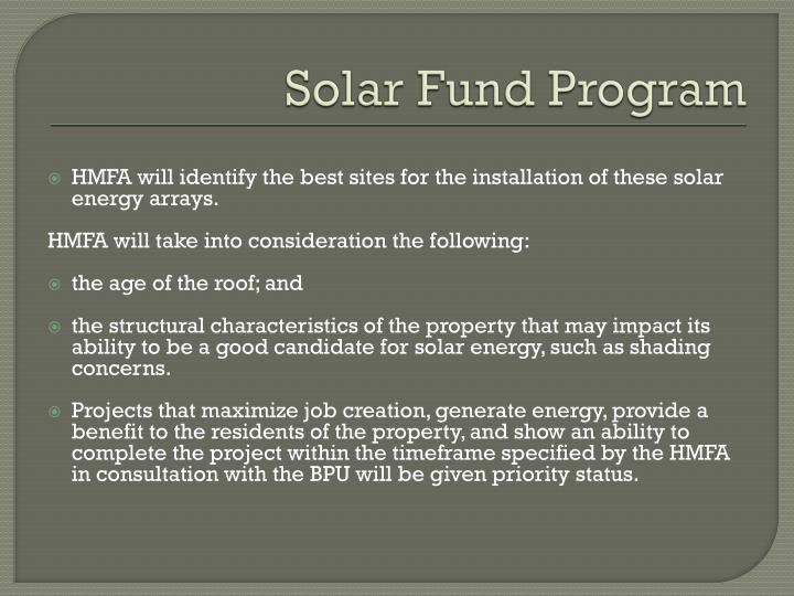 Solar Fund Program