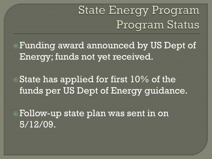 State Energy Program
