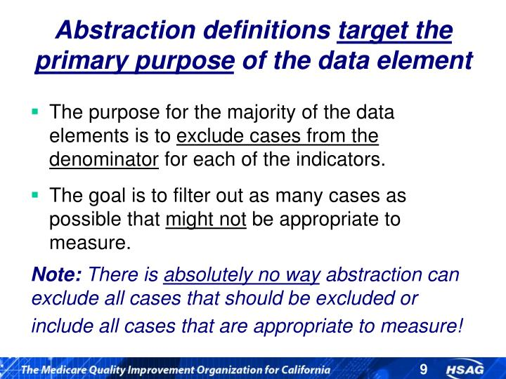Abstraction definitions
