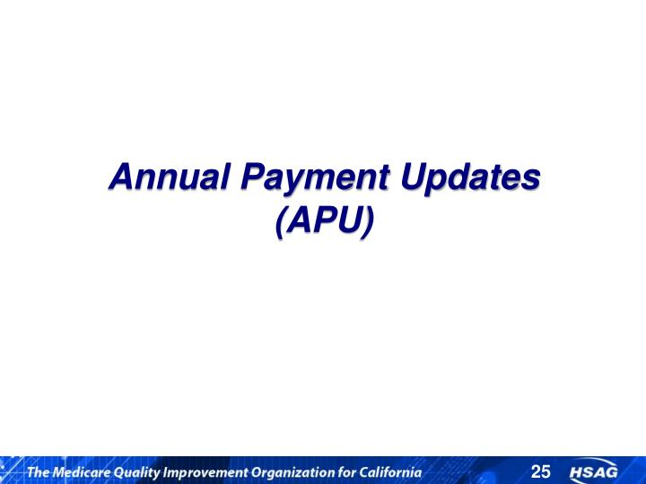 Annual Payment Updates