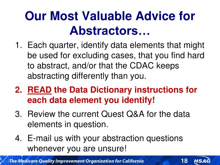 Our Most Valuable Advice for Abstractors…