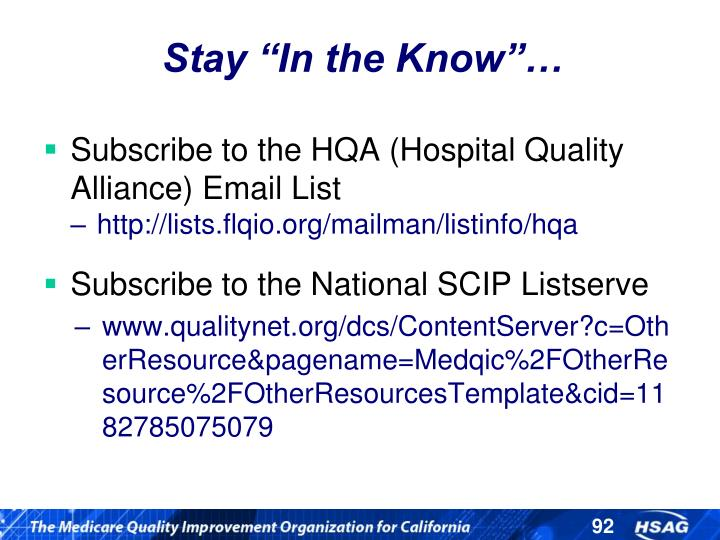 """Stay """"In the Know""""…"""