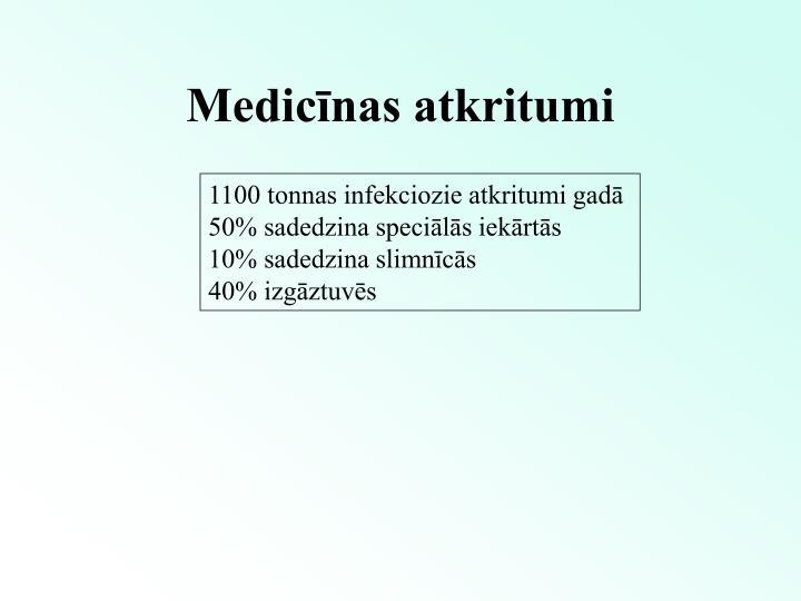 Medicīnas atkritumi