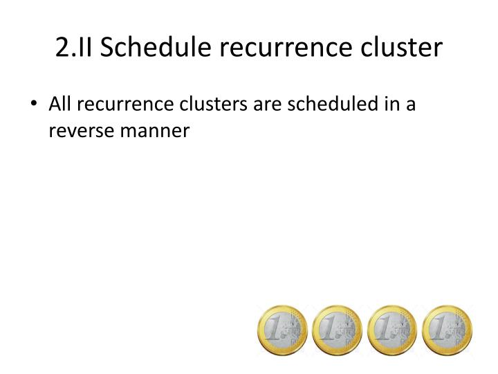 2.II Schedule recurrence cluster