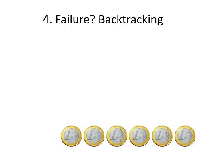 4. Failure? Backtracking