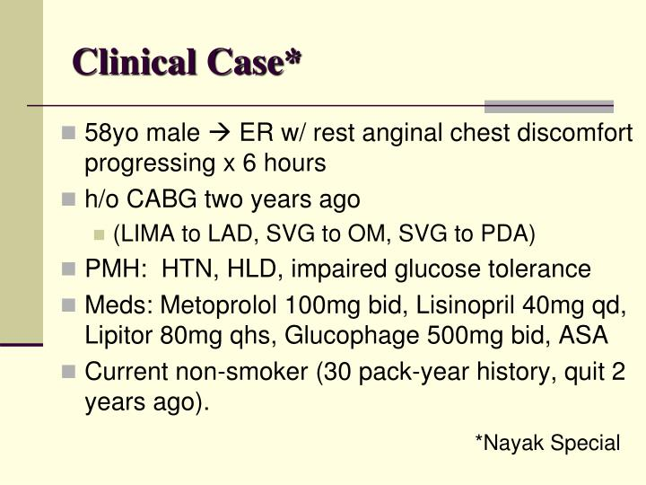Clinical Case*
