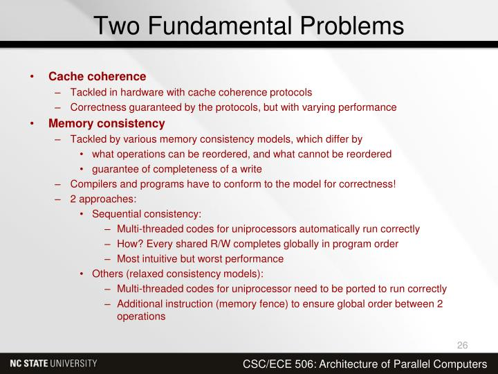 Two Fundamental Problems
