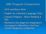 abe program components