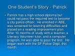 one student s story patrick