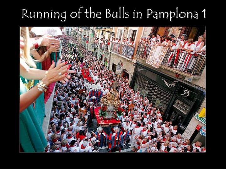 Running of the Bulls in Pamplona 1