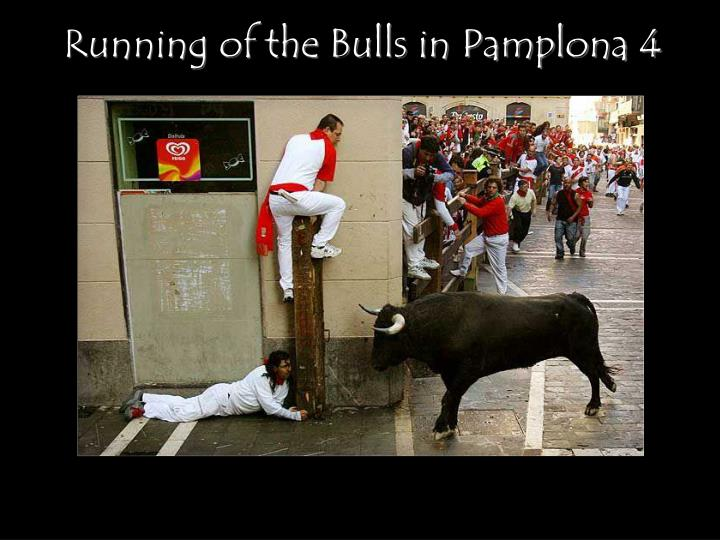 Running of the Bulls in Pamplona 4