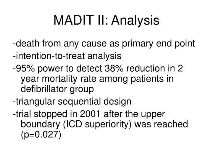 MADIT II: Analysis
