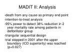 madit ii analysis