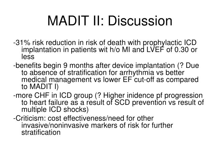 MADIT II: Discussion