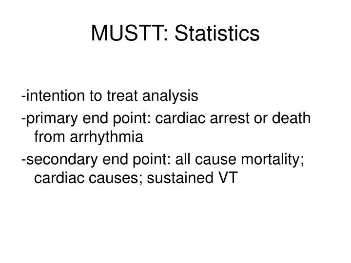 MUSTT: Statistics