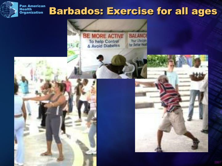 Barbados: Exercise for all ages