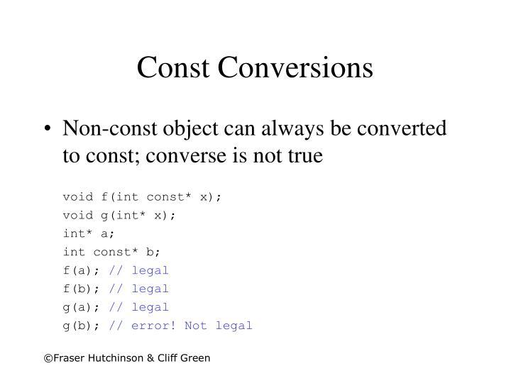 Const Conversions