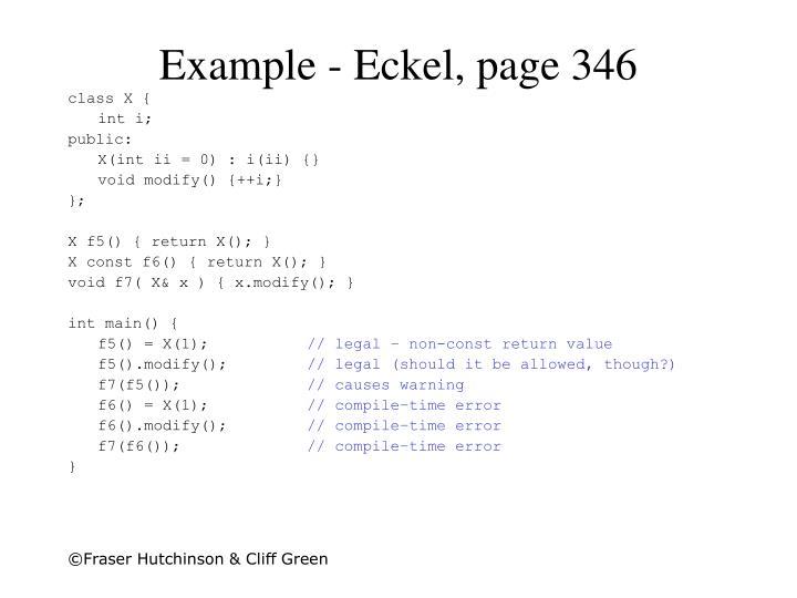 Example - Eckel, page 346