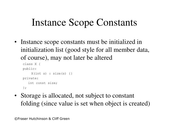 Instance Scope Constants