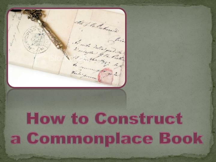 How to Construct